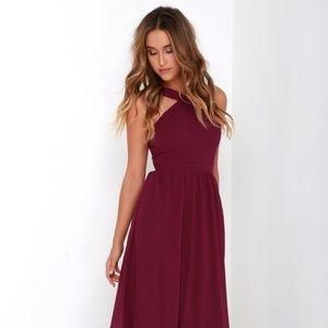 Lulus Air of Romance burgundy dress - NWT - small